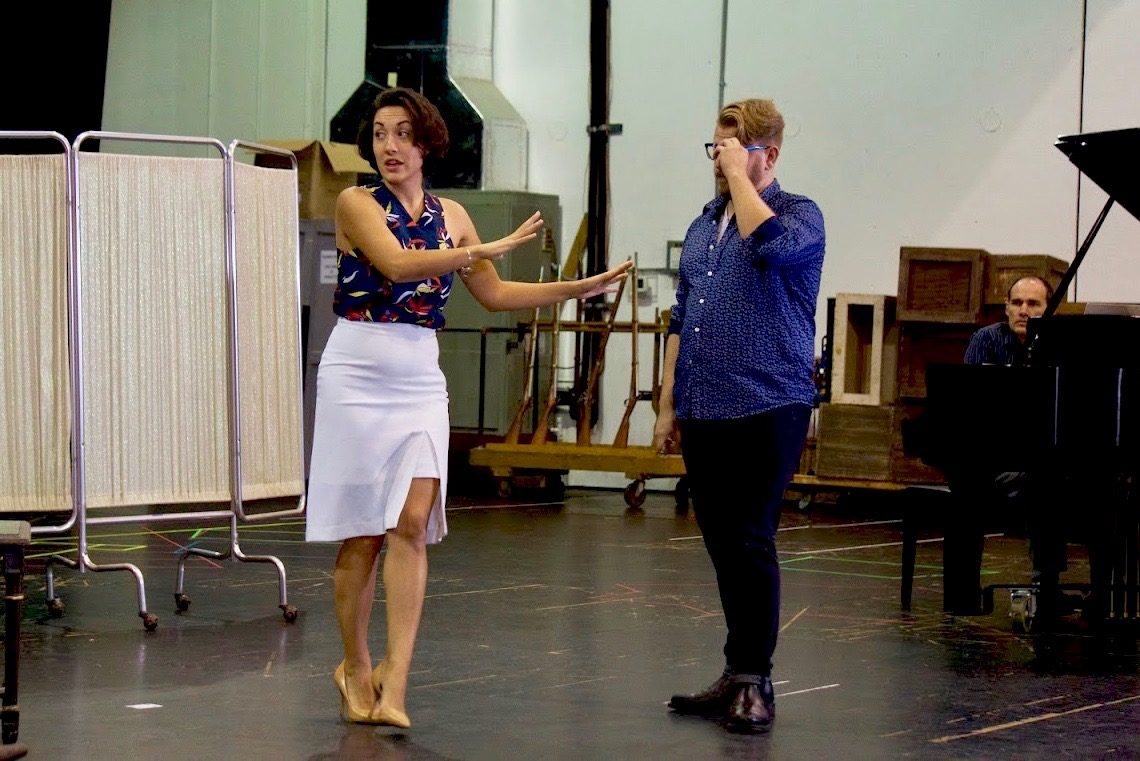 Rebekah Diaz Fandrei at work with the Florida Grand Opera.