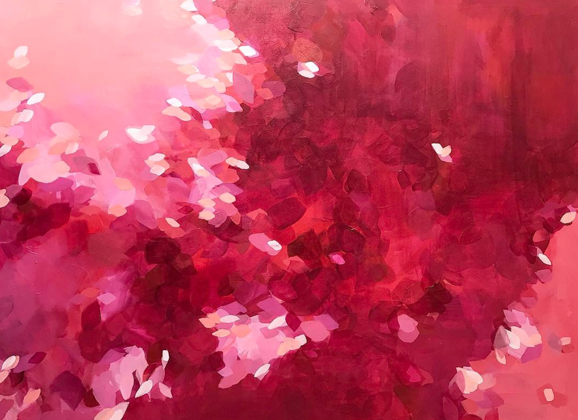 'Geranium' 30x40 original painting, via artbymegan.com