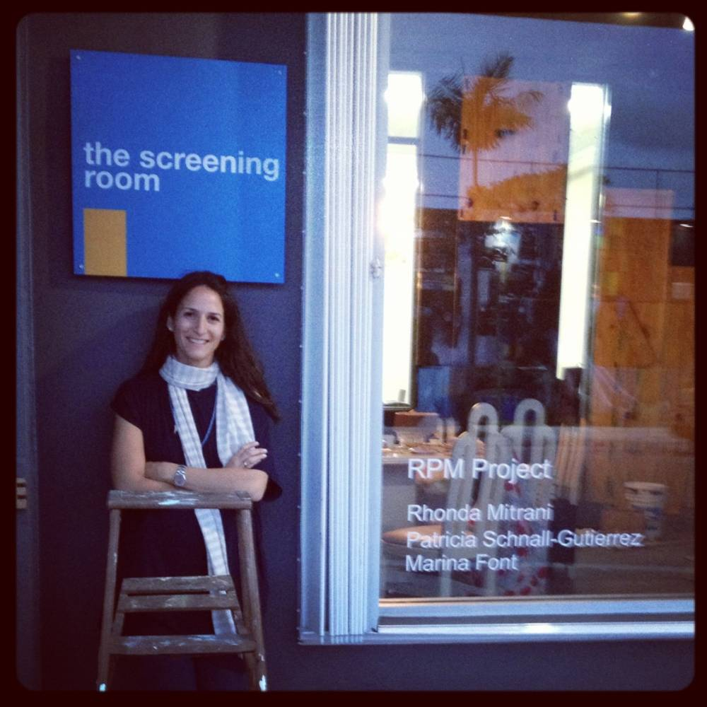 Rhonda Mitrani in front of The Screening Room, an exhibition and project space that she opened in Miami.
