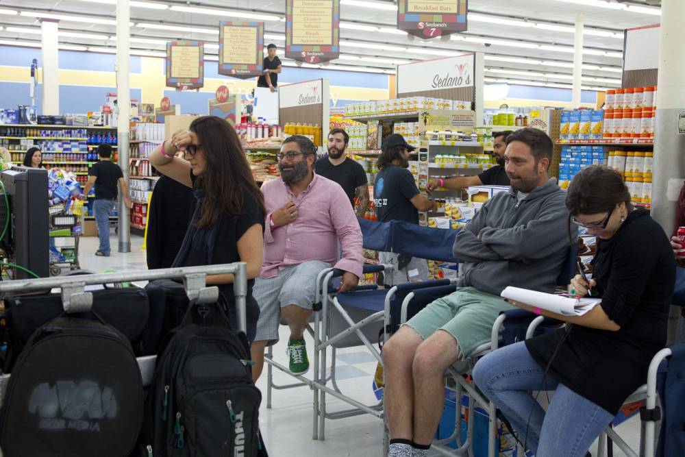 Rhonda Mitrani, on set for her film, 'SuperMarket'.