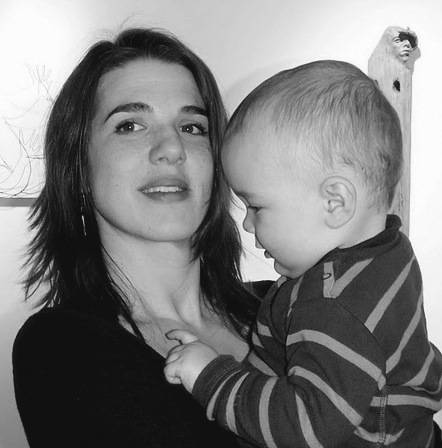 Susan Clinard, with her son.