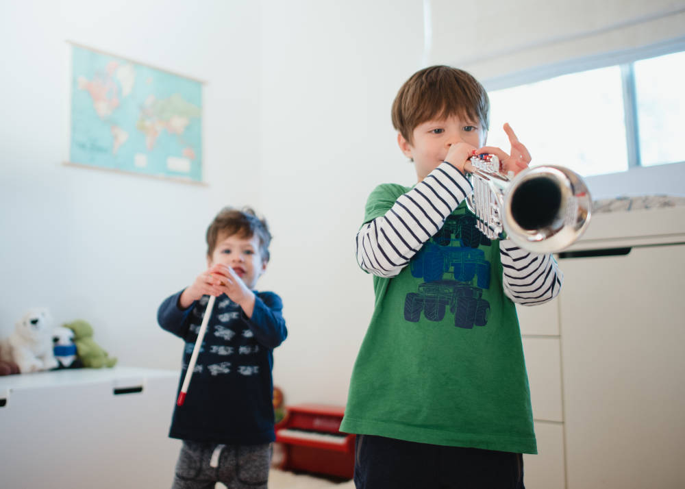Janine Salinas Schoenberg's sons, Leo and Luca. Photo: Vanessa Maldonado