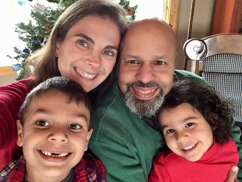 Rachel Alvarez with her husband Frank and their two kids, Christian and Mia.