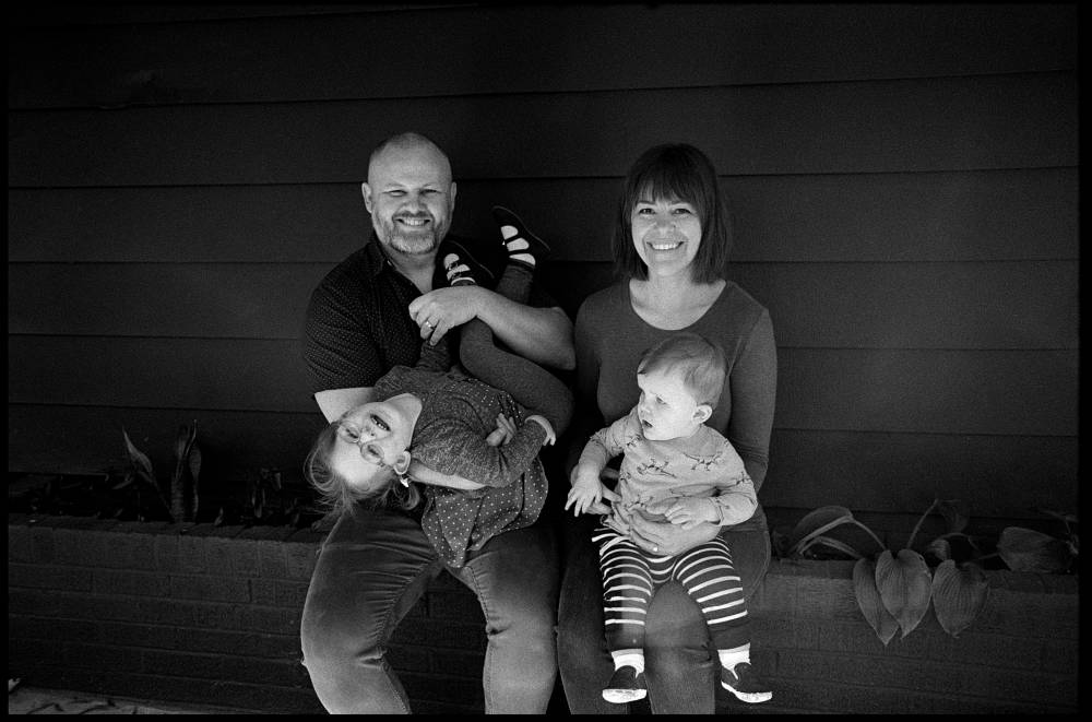 Mandy and her husband Joshua with their kids Etta and Moses. Photo: Mollie Greene