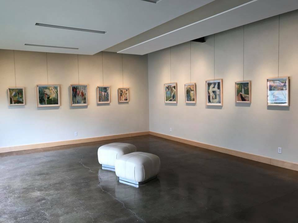 Megan Woodard Johnson's solo show, 2018.